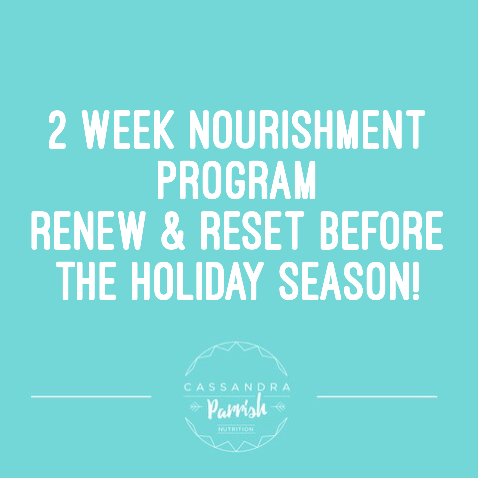 Two Week Nourishment Program Before The Silly Season